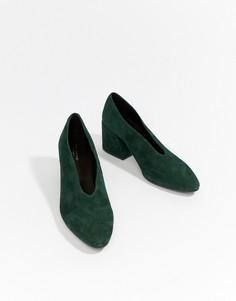 Замшевые туфли с острым носом Vagabond Olivia - Зеленый