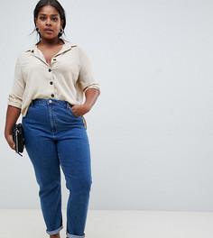 Узкие джинсы в винтажном стиле с завышенной талией ASOS DESIGN Curve Farleigh - Синий