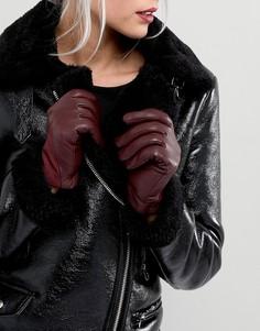 Перчатки из натуральной кожи Boardmans - Красный