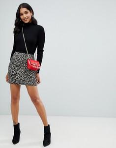 Мини-юбка с леопардовым принтом Morgan - Мульти