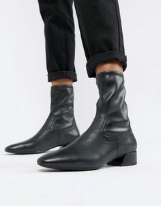 Черные кожаные ботинки с острым носком Vagabond Joyce - Черный