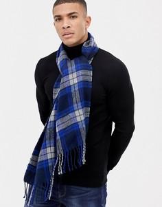 Темно-синий шарф в клетку Boardmans - Темно-синий