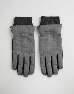 Перчатки с принтом зигзаг Boardmans Jaden - Серый