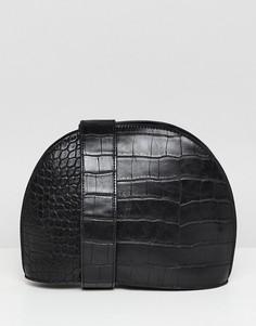 Большая сумка через плечо ASOS DESIGN - Черный