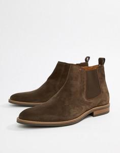 Коричневые замшевые ботинки челси Tommy Hilfiger essential - Коричневый