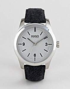 Серые часы с фетровым ремешком HUGO 1530027 - Серый