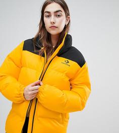 Желтая дутая свободная куртка эксклюзивно от Converse - Золотой