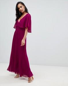 Платье макси с юбкой в складку ASOS DESIGN - Розовый