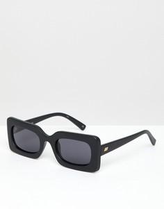 Черные квадратные солнцезащитные очки Le Specs Damn - Черный