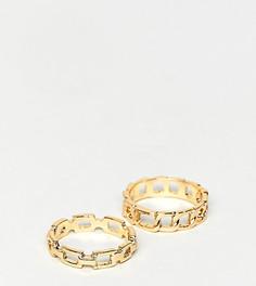 Набор из 2 колец DesignB London - Золотой