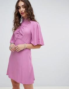 Приталенное платье миди Free People Be My Baby - Розовый