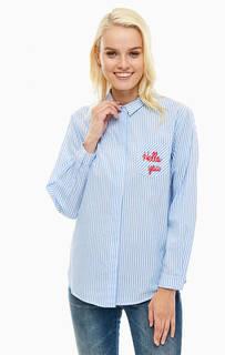 Синяя хлопковая рубашка в полоску Sugarhill Boutique
