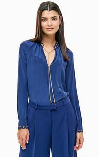Шелковая блуза с декоративной цепочкой Michael Michael Kors