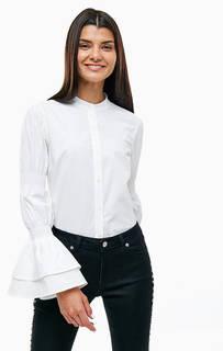 Белая рубашка с расклешенными рукавами Michael Michael Kors