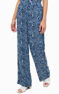 Синие брюки с принтом пейсли Michael Michael Kors
