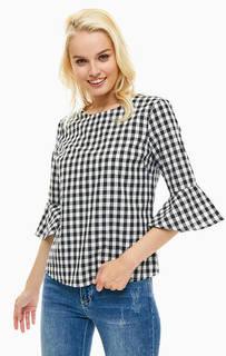 Хлопковая блуза в клетку с рукавами три четверти Sugarhill Boutique
