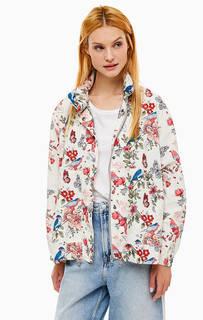Ветровка с капюшоном и цветочным принтом Pepe Jeans
