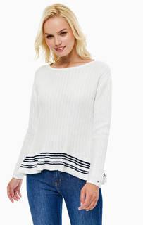 Белый хлопковый свитер Tommy Hilfiger