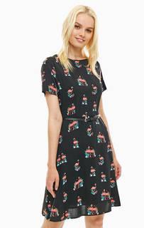 Черное платье с ремнем Sugarhill Boutique