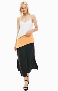 Платье на бретелях с разрезами Armani Exchange