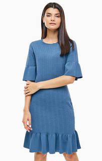 Синее трикотажное платье-футляр Michael Michael Kors