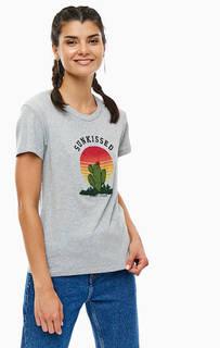 Хлопковая футболка с отделкой бисером Tommy Jeans