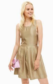 Платье без рукавов с расклешенной юбкой Armani Exchange