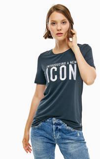 Трикотажная футболка с вышивкой Guess