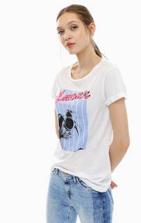 Белая хлопковая футболка с короткими рукавами Rich&Royal