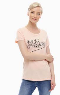 Трикотажная футболка с контрастным принтом Scotch&Soda