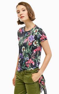 Трикотажная футболка с цветочным принтом Guess