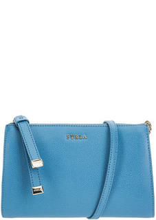 Маленькая синяя сумка из натуральной кожи Luna Furla