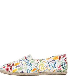 Текстильные слипоны с цветочным принтом Paez