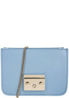 Кожаная основа сумки синего цвета Metropolis Furla