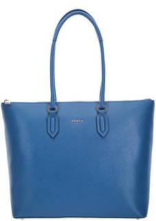 Вместительная кожаная сумка с одним отделом на молнии Pin Furla