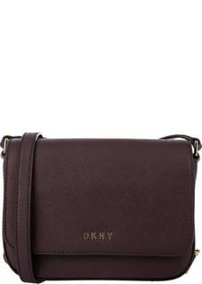 Маленькая бордовая сумка с карманами Dkny