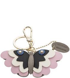 Кожаный брелок в форме бабочки Papillon Furla