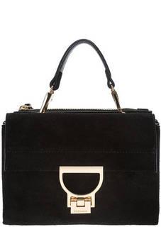Маленькая замшевая сумка с двумя отделами Arlettis Suede Coccinelle
