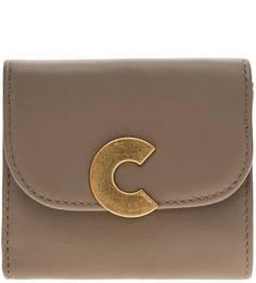 Коричневый кошелек из натуральной кожи Craquante Smooth Coccinelle