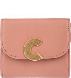 Кожаный кошелек с откидным клапаном Craquante Smooth Coccinelle