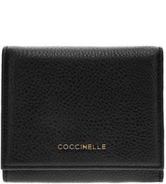 Кожаный кошелек черного цвета Metallic Soft Coccinelle