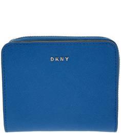 Синий кошелек из сафьяновой кожи Dkny