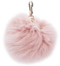 Меховой брелок розового цвета Bubble Furla