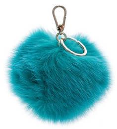 Меховой брелок бирюзового цвета Bubble Furla