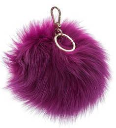 Меховой брелок фиолетового цвета Bubble Furla