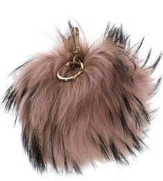 Меховой брелок с золотистой фурнитурой Bubble Furla