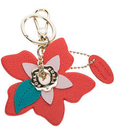 Кожаный брелок в форме цветка Papillon Furla