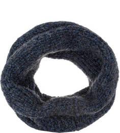 Синий шарф-хомут крупной вязки Canoe