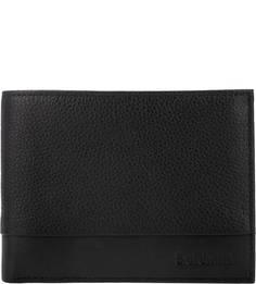 Черное портмоне из натуральной кожи Baldinini