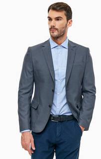Пиджак серого цвета на пуговицах Guess